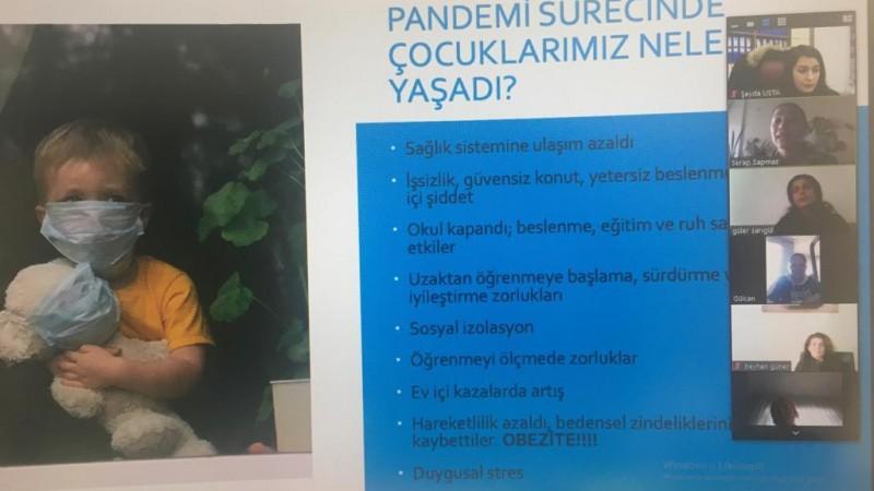 """""""Pandemi Sürecinde Çocuk Sağlığı"""" Konulu Konferans Düzenlendi"""